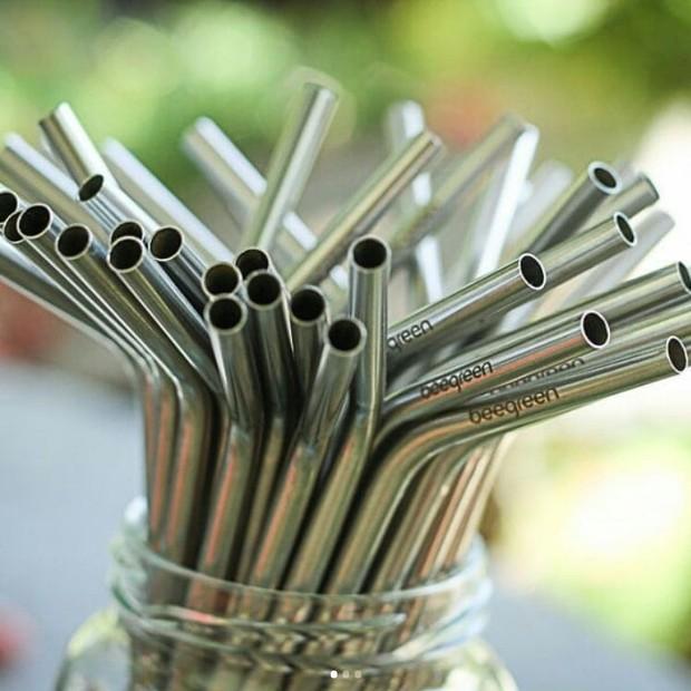 Canudos de aço inox, da Beegreen (Foto: Divulgação)