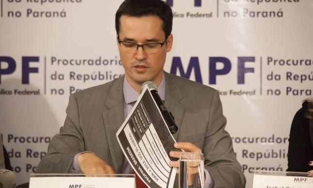 Deltan Dallagnol, procurador da República . coordenador da força-tarefa da Lava-Jato em Curitiba