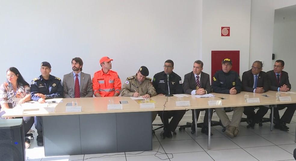 Copa América em BH tem reforço de segurança para receber delegações.  — Foto: Reprodução/TV Globo