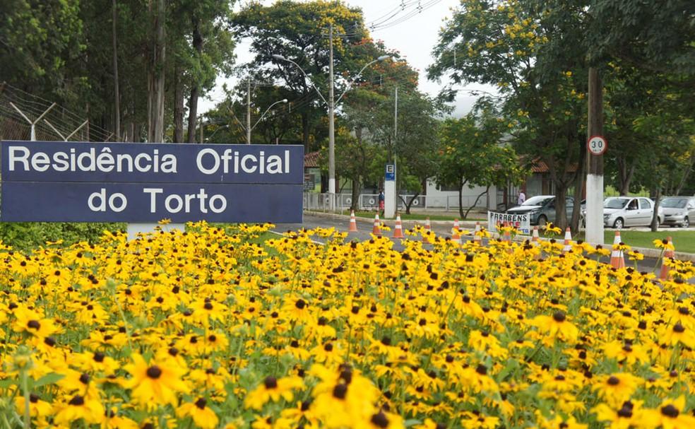 Residência Oficial do Torto, na área do Distrito Federal conhecida como Granja do Torto (Foto: Glauco Araújo/G1)