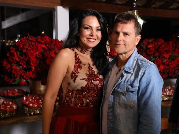 Gardênia e Sylvinho Blau Blau  (Foto: Lucio Cesar Pereira)