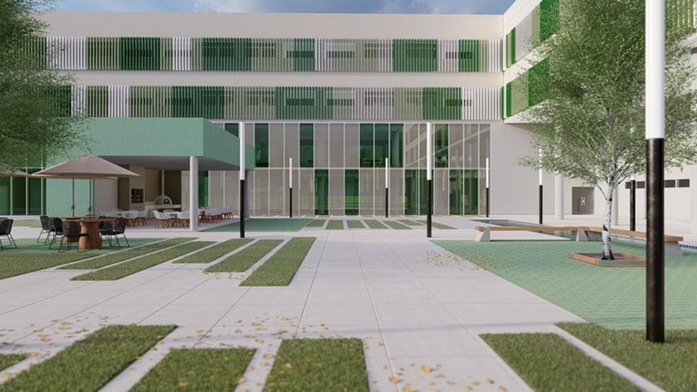 Projeto do novo CT da base do Palmeiras, em Guarulhos (SP) — Foto: Divulgação