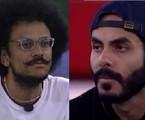 João Luiz e Rodolffo no Jogo da Discórdia, no 'BBB' 21 | Reprodução