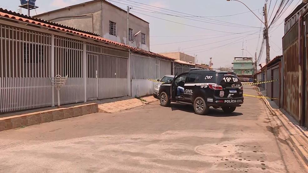 PCDF investiga caso de adolescente de 16 anos baleado em Ceilândia, no DF — Foto: TV Globo/Reprodução