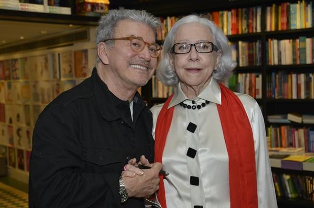 Edney Silvestre e Fernanda Montenegro  (Foto: J Egberto)