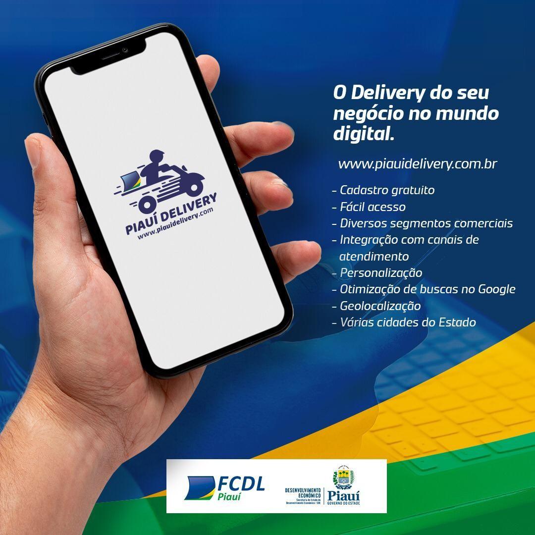 App de compra por delivery é lançada em 10 municípios do Piauí para estimular comércio local
