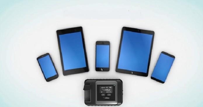 O Iridium Go! permite conectar até cinco aparelhos ao mesmo tempo (Reproduçao/YouTube)