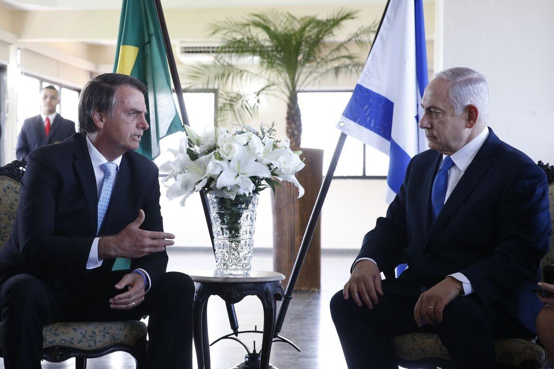 Bolsonaro e primeiro-ministro de Israel Benjamin Netanyahu (Foto: Fernando Frazão/Agência Brasil)