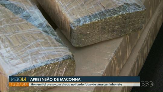 Polícia e Receita Federal apreendem mais de 1 t de maconha na fronteira com o Paraguai