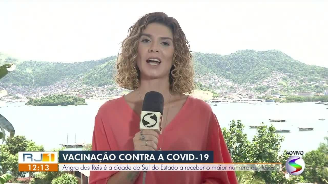 Angra dos Reis é a cidade da região que receberá maior número de doses da vacina