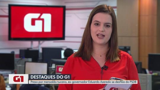 G1 no MG: Preso por mensalão tucano, ex-governador Eduardo Azeredo se desfilia do PSDB