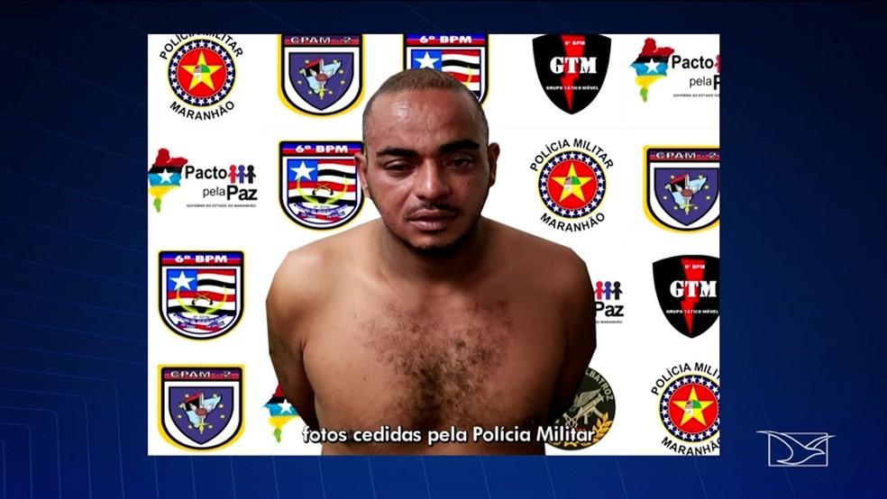 Diego Silva Andrade Nascimento, de 32 anos, foi preso por ter espancado a mulher com uma perna-manca — Foto: Reprodução/TV Mirante