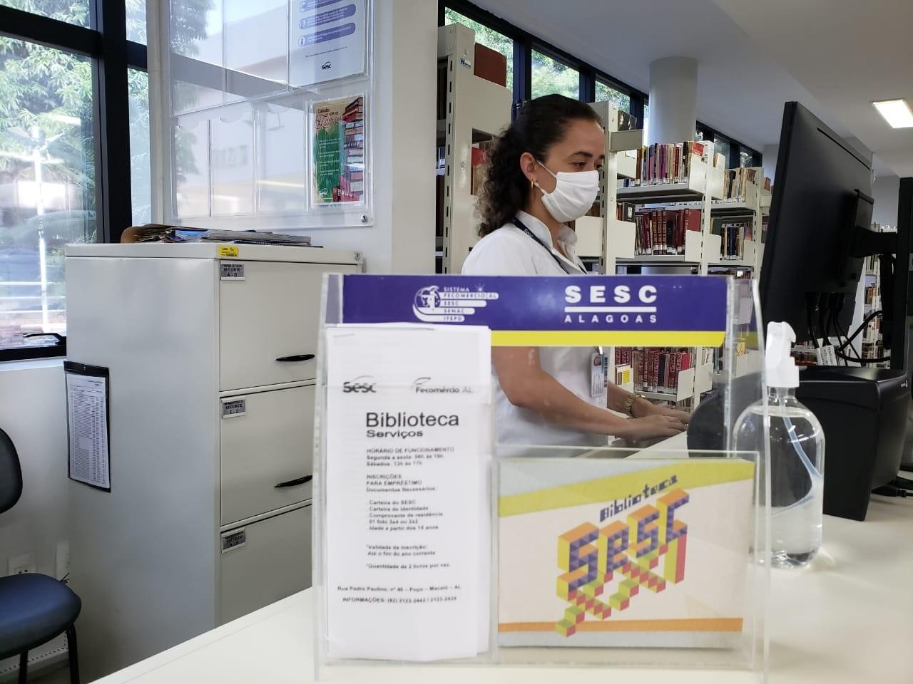 Fechadas por causa da pandemia, bibliotecas do Sesc em Alagoas reabrem após quase 6 meses