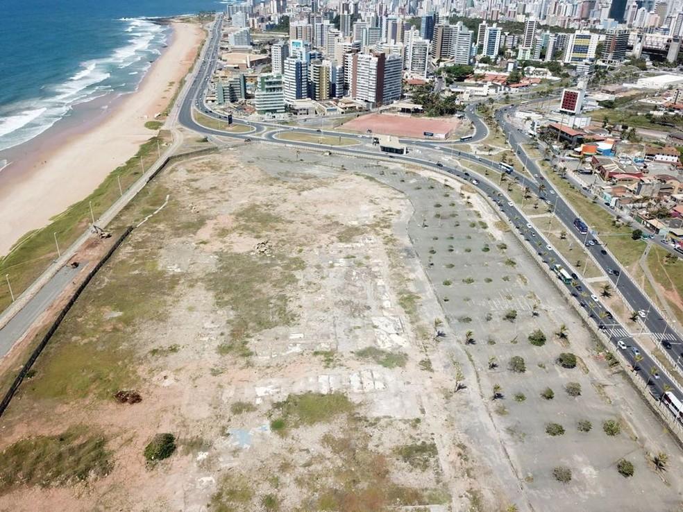 Área do antigo aeroclube, onde a prefeitura pretende construir um Centro de Convenções Municipal (Foto: Divulgação/Prefeitura)