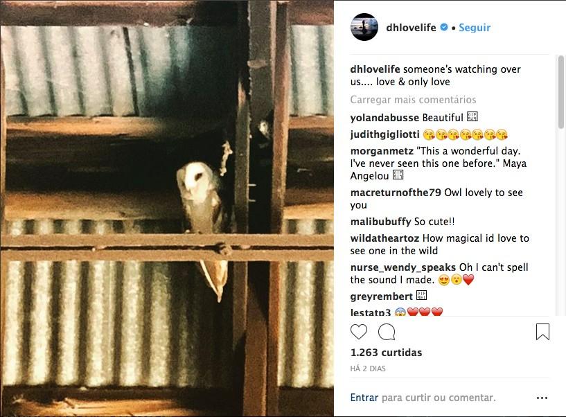 O post enigmático de Daryl Hannah supostamente sobre seu casamento com o músico Neil Young (Foto: Instagram)