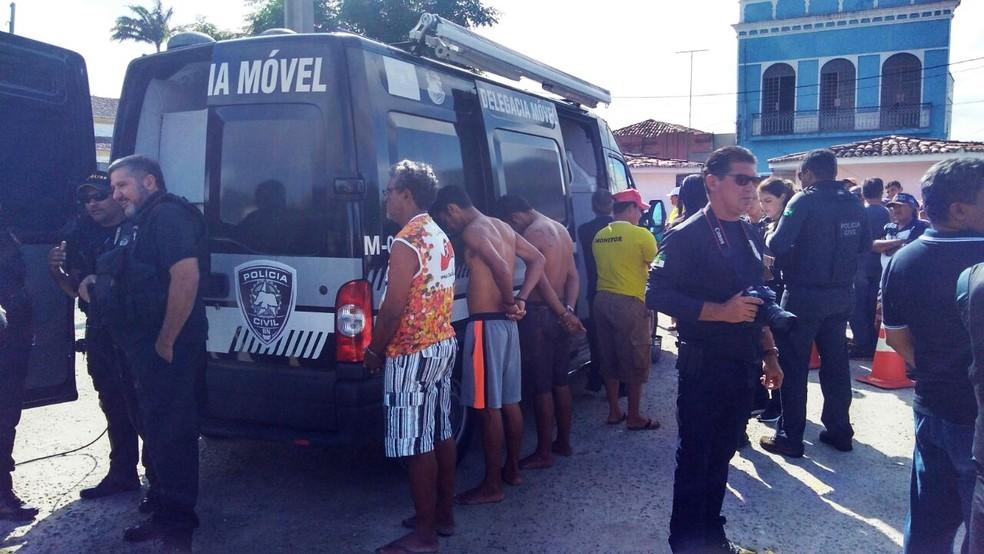 Ação foi realizada em conjunto pelas polícias Civil e Militar (Foto: Marksuel Figueredo/Inter TV Cabugi)