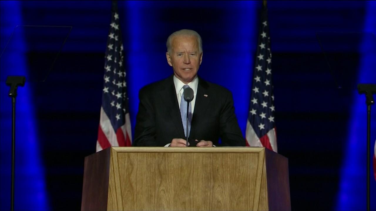 Joe Biden faz discurso da vitória como presidente eleito dos EUA