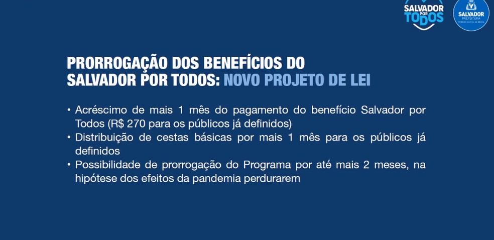 Prefeito ACM Neto anunciou a prorrogação do programa que distribui R$ 270 para informais de Salvador — Foto: Reprodução / Facebook