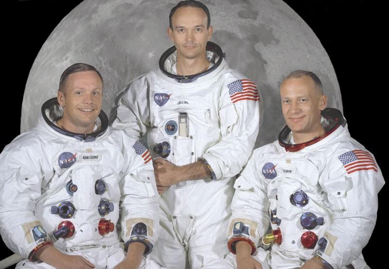 Neil Armstrong, Michael Collins e Buzz Aldrin - tripulação da Apollo 11 (Foto: NASA)