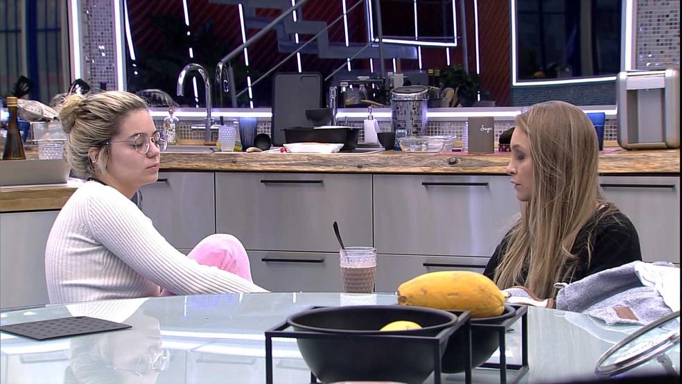 Carla Diaz aconselha Viih Tube sobre situação com sister do BBB21: 'Você tem que ser forte' — Foto: Globo