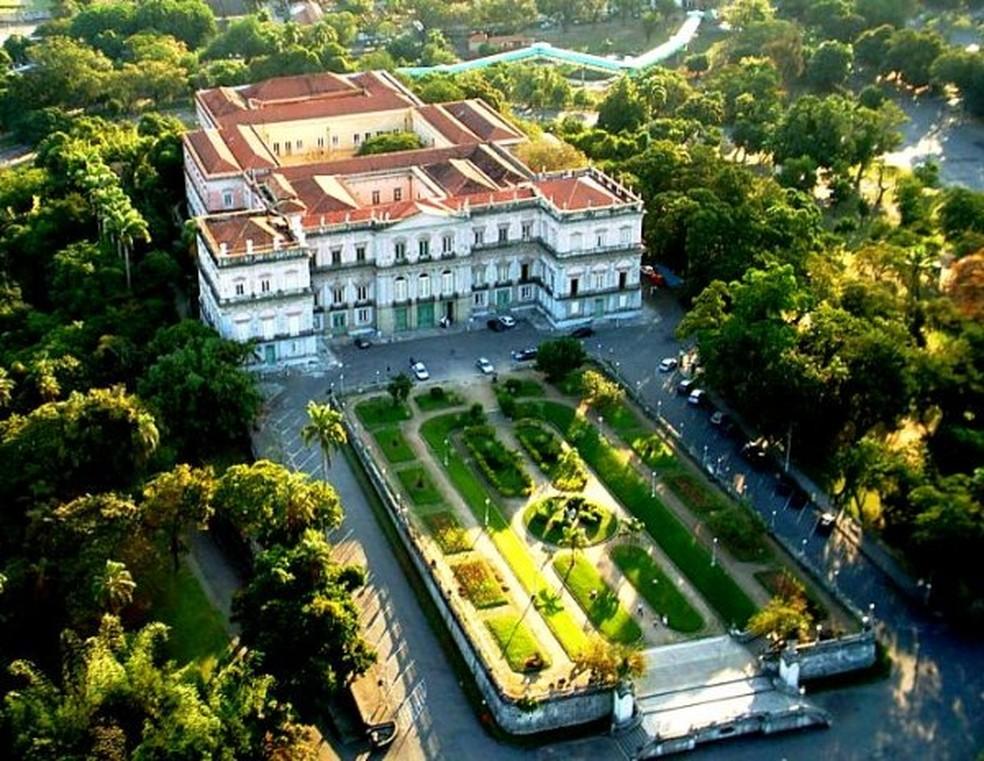 Vista aérea do Museu Nacional, antes do incêndio (Foto: Reprodução/ Museu Nacional)