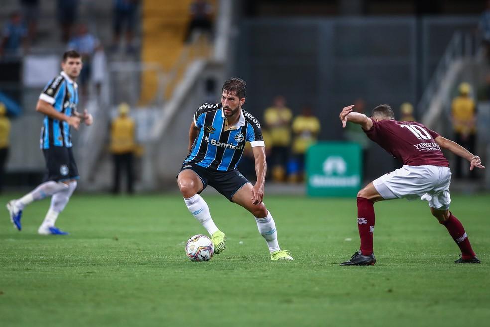 Lucas Silva falhou em sua estreia — Foto: Lucas Uebel / Grêmio FBPA