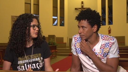 Jovem missionária da comunidade Kadosh explica a importância da evangelização entre os jovens