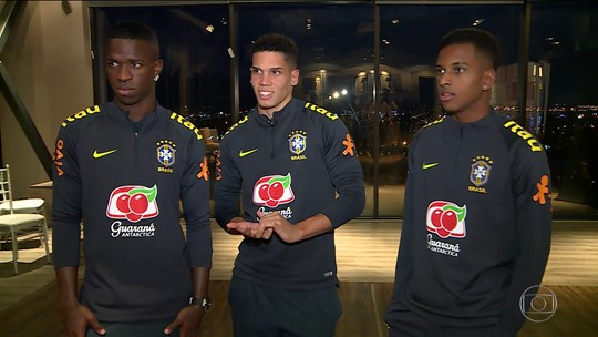 Vinicius Jr, Paulinho e Rodrygo: trio de ouro aposta em entrosamento para dar alegria na Seleção