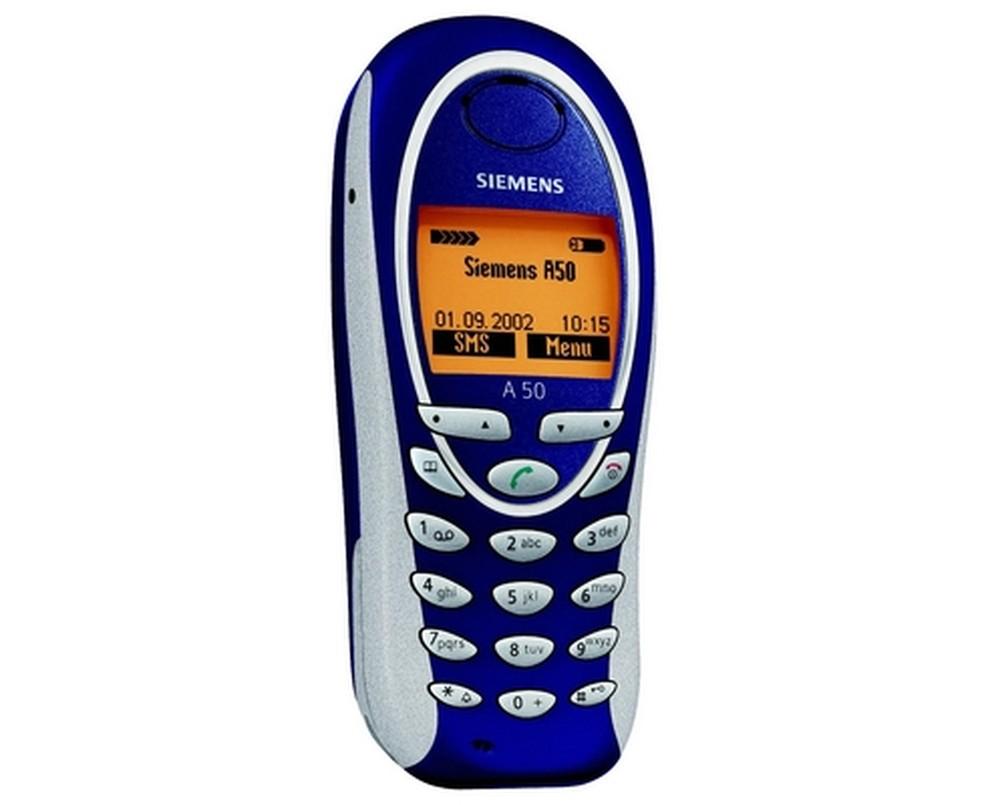 Siemens A50 tinha várias opções de carcaça como o Nokia 3310 — Foto: Divulgação/Siemens
