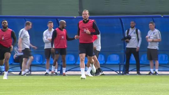 Com muita descontração, Inglaterra faz último treino antes da estreia na Copa