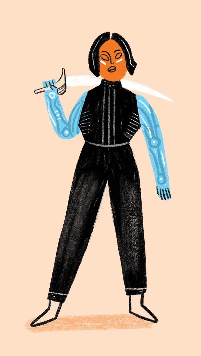 Alita, produzido por James Cameron (Foto: Ilustração: Ana Matsusaki)