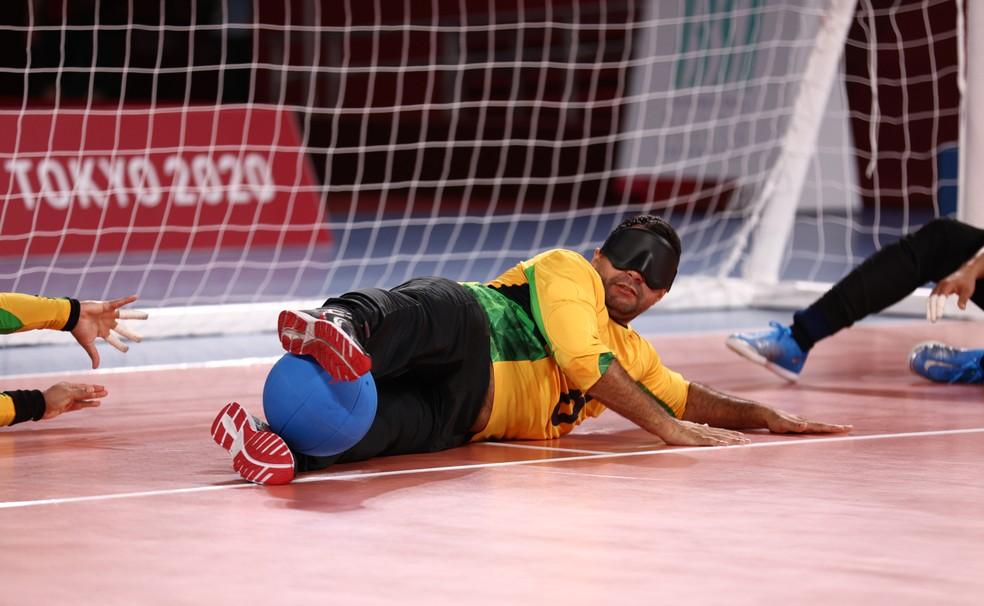 Brasil, de Romário, conquista o ouro inédito no goalball — Foto: Lisi Niesner/Reuters