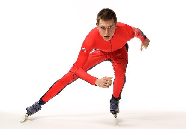 LONDON, ENGLAND - JANUARY 26: Short Track Speed Skater Jon Eley of Great Britain poses during the Team GB adidas Winter Olympic kit launch at Somerset House on January 26, 2010 in London, England. The Vancouver Winter Olympic Games are due to start on Feb (Foto: Hamish Blair/Getty Images for adidas)