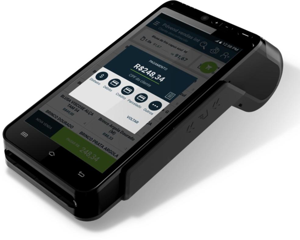 84b88be96 ... Máquina de cartão PDVend Pay traz funções que prometem ajudar no dia a  dia de uma