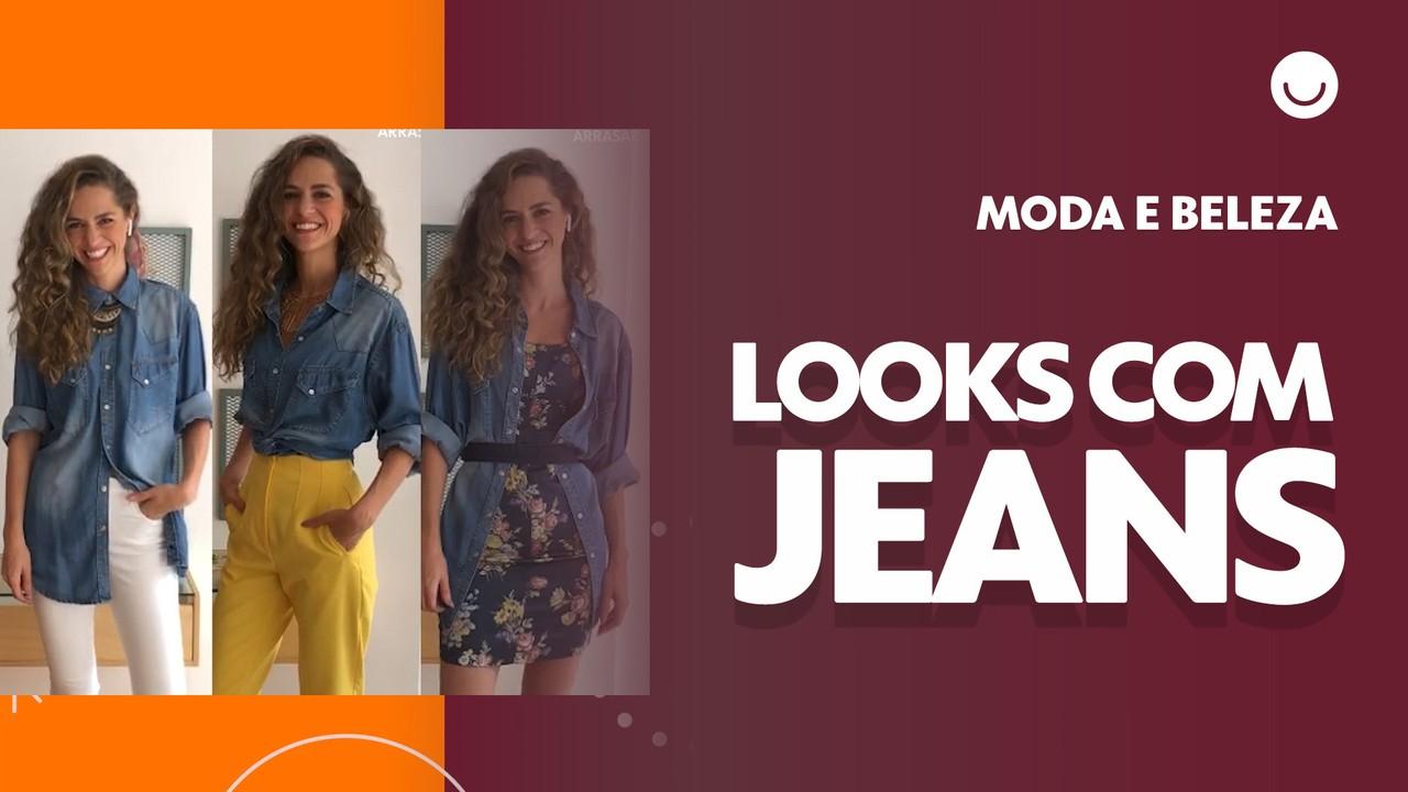 Camisa jeans: aprenda a montar três opções de looks usando a mesma peça