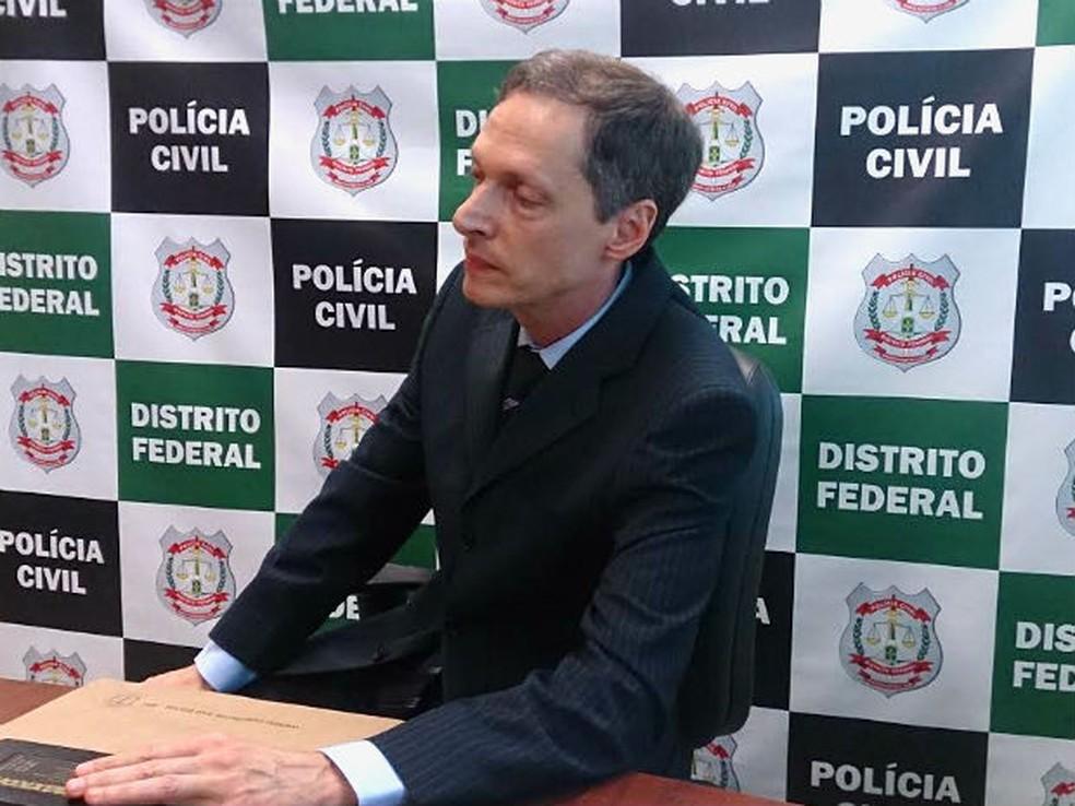 Delegado Leandro Ritt, da Divisão de Repressão a Sequestros do DF — Foto: Mateus Rodrigues/G1