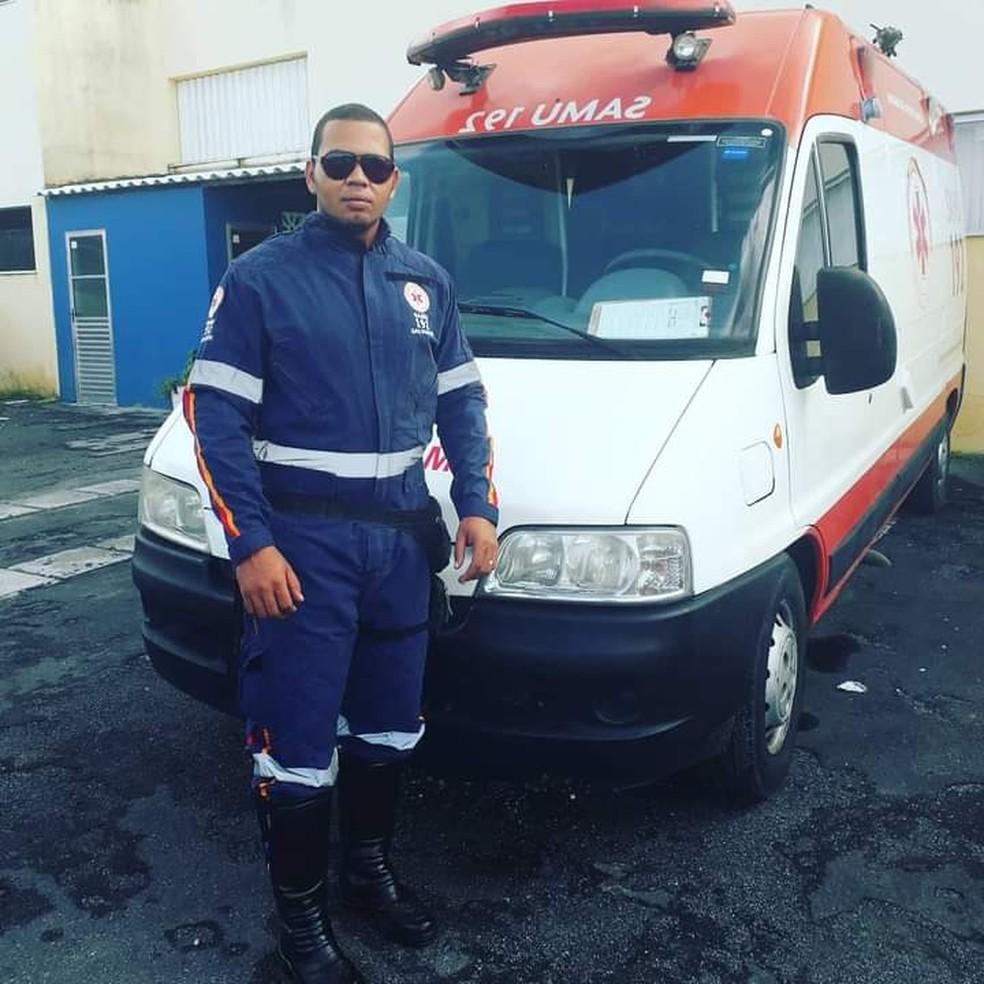 Lucival Junior morreu na noite de sábado (1°) em acidente de moto — Foto: Divulgação / Samu