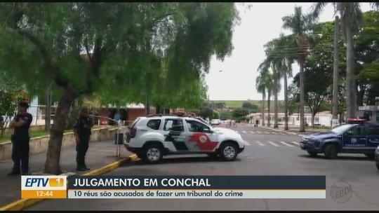 Criminosos presos em 'tribunal do crime' são julgados em Conchal