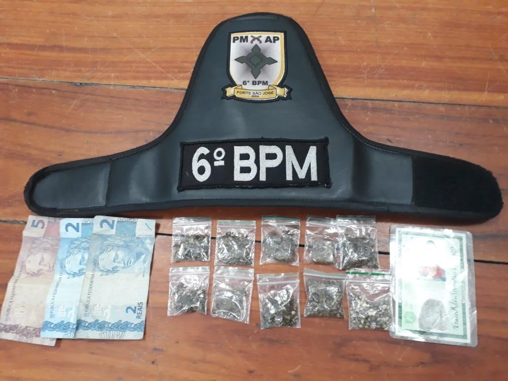 Suspeito de tráfico é preso com maconha e sementes da planta em Macapá