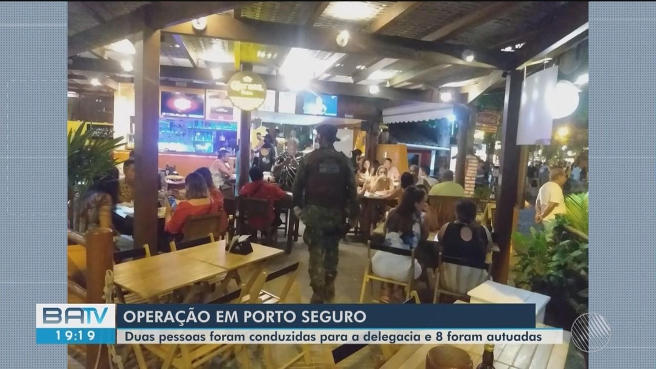Oito pessoas são autuadas por descumprirem medidas contra a Covid, em Porto Seguro