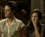 Dona Conceição (Claudia Missura) e Creotina (Luana Martau) de 'Joia rara' | TV Globo