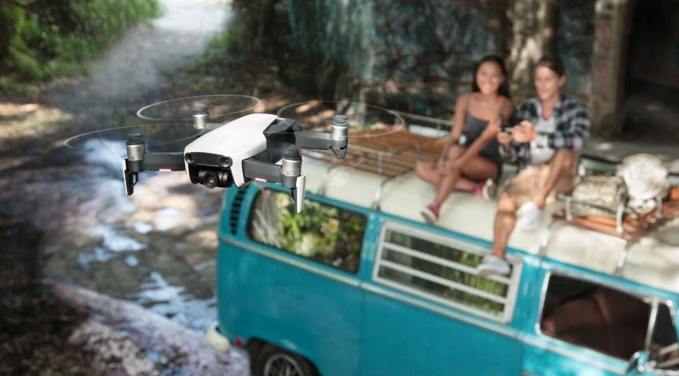 Mavic Air tem câmera 4K com capacidade de aplicar HDR em vídeo e fotos (Foto: Divulgação/DJI)