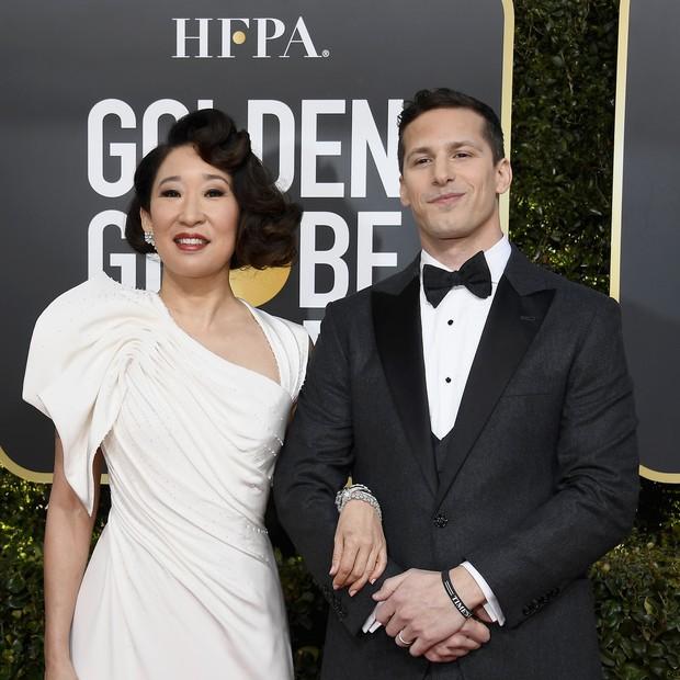 Sandra Oh e Andy Samberg (Foto: Getty Images)