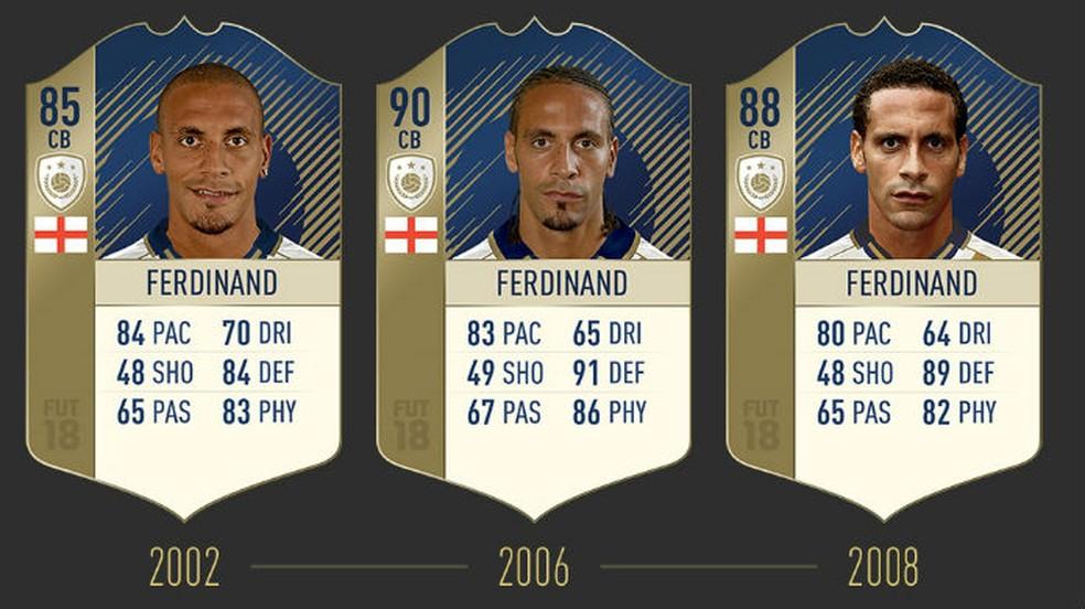 FIFA 18: confira as três cartas de Ferdinand (Foto: Divulgação / EA)