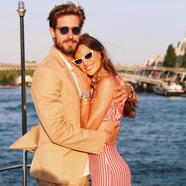 Izabel Goulart is a surprise for Kevin Trapp (photo: playback/Instagram)