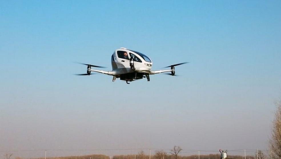 Drone que funciona como táxi aéreo pode ser testado por governo de Dubai (Foto: Divulgação/Ehang)