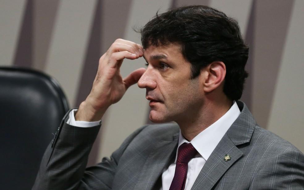 O ministro do Turismo, Marcelo Álvaro Antônio, durante audiência no Senado — Foto: José Cruz/Agência Brasil
