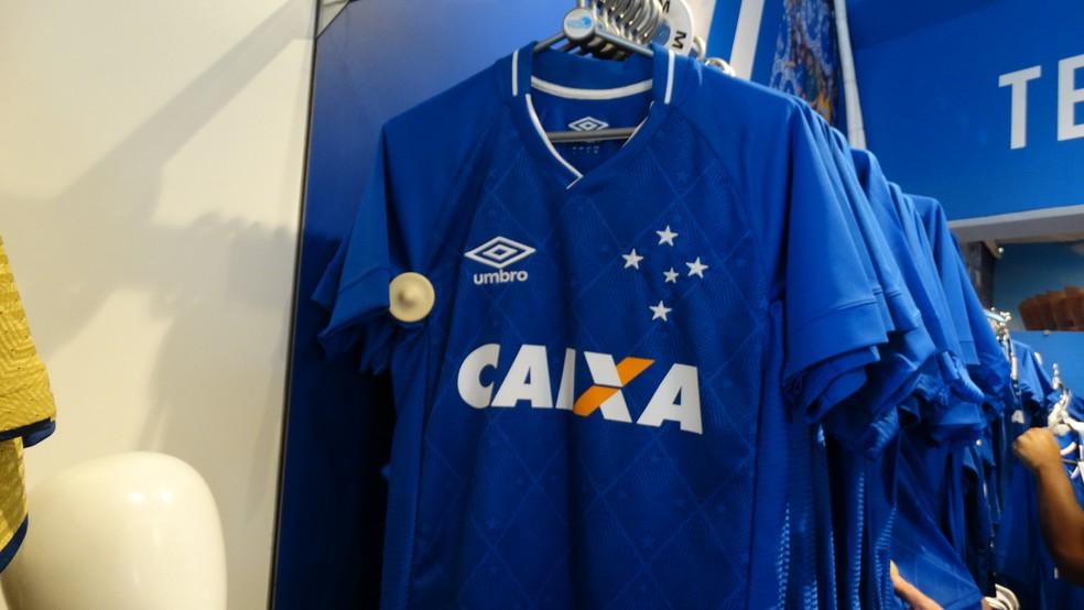 d1f691e6aa ... Cruzeiro está em negociação para a renovação com a Caixa Econômica —  Foto  Maurício Paulucci