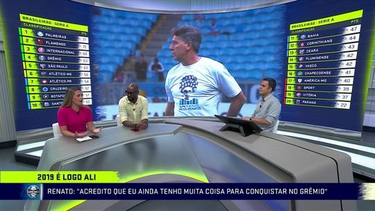 """Ana Thais diz que """"fico"""" de Renato no Grêmio faz respeito crescer: """"Sai muito grande dessa história"""""""