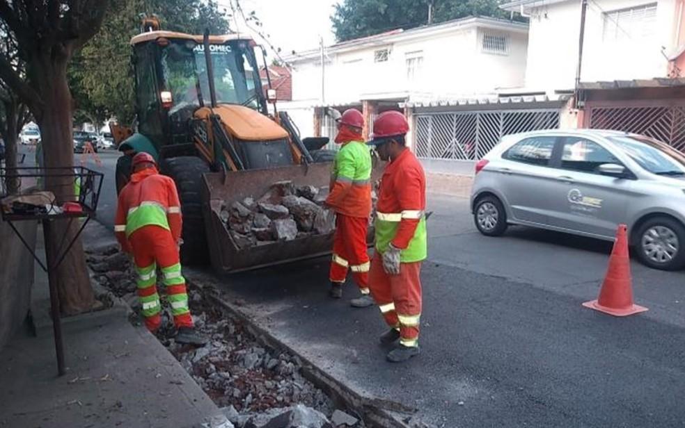 Ciclofaixa da Alameda dos Guatás, na Zona Sul, foi requalificada sem anúncio público da Prefeitura de São Paulo no mês de agosto — Foto: Divulgação/Prefeitura de São Paulo